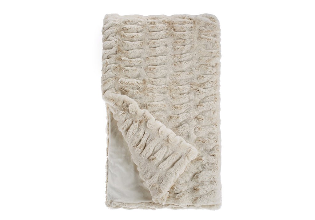 IVORY MINK THROW