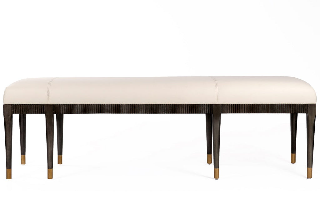 NINA LEATHER BENCH