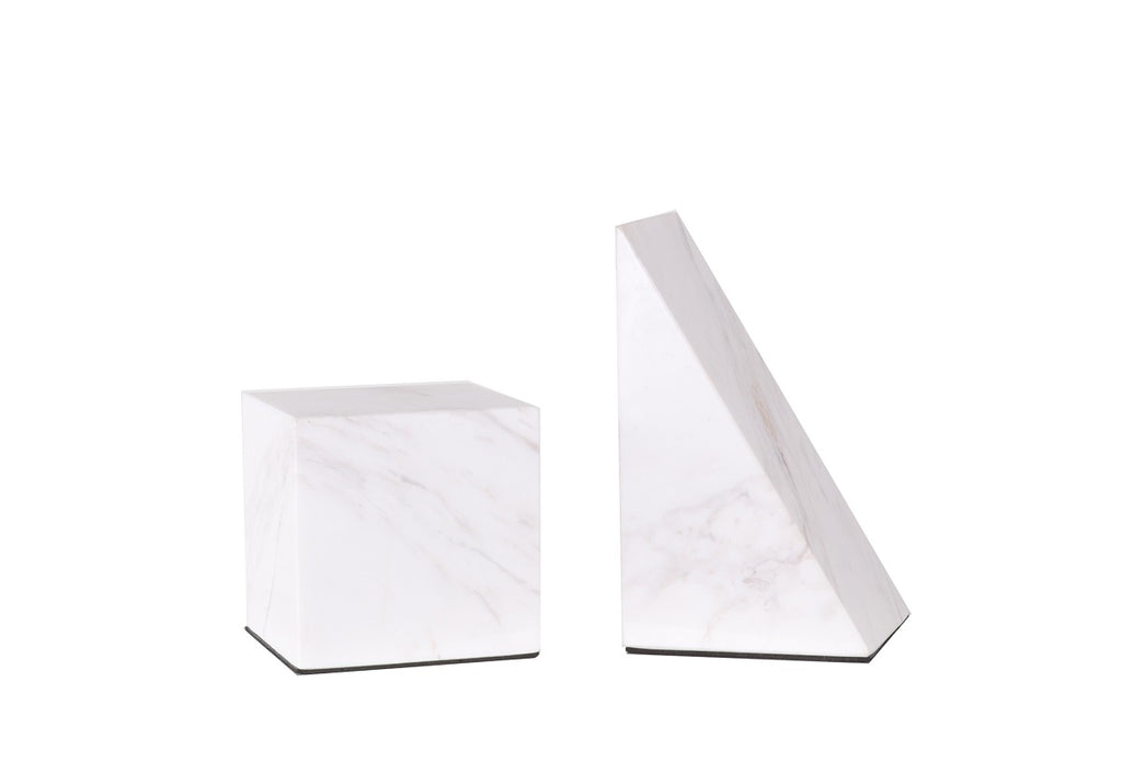 MARBLE BOOKEND PAIR
