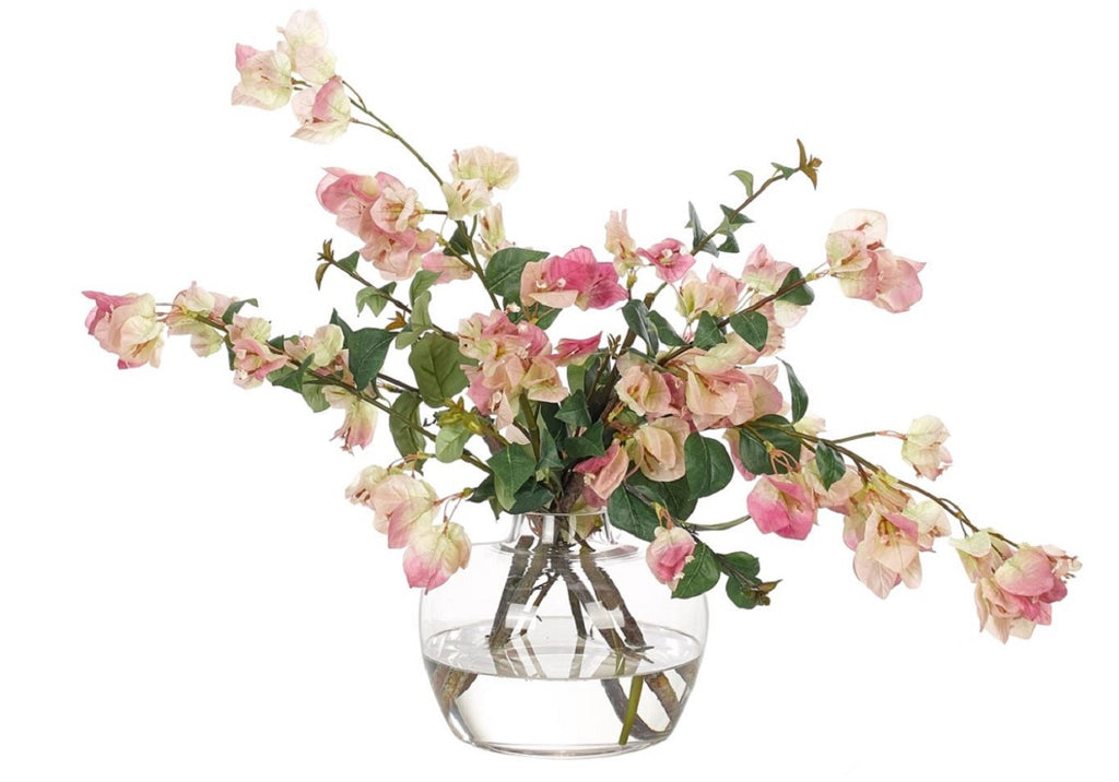 BOUGAINVILLEA IN GLASS VASE