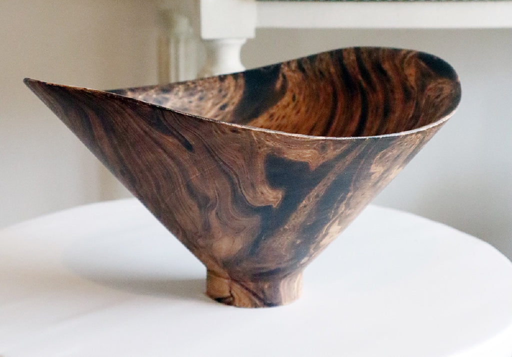 MANGO WOOD BUTTERFLY BOWL