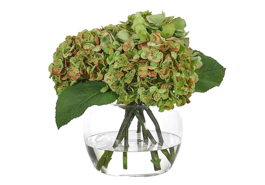 HYDRANGEA IN GLASS JAR