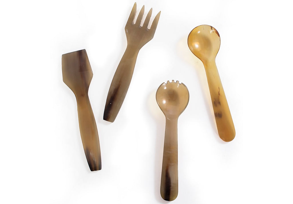 CHARCUTERIE HORN UTENSIL SERVING SET