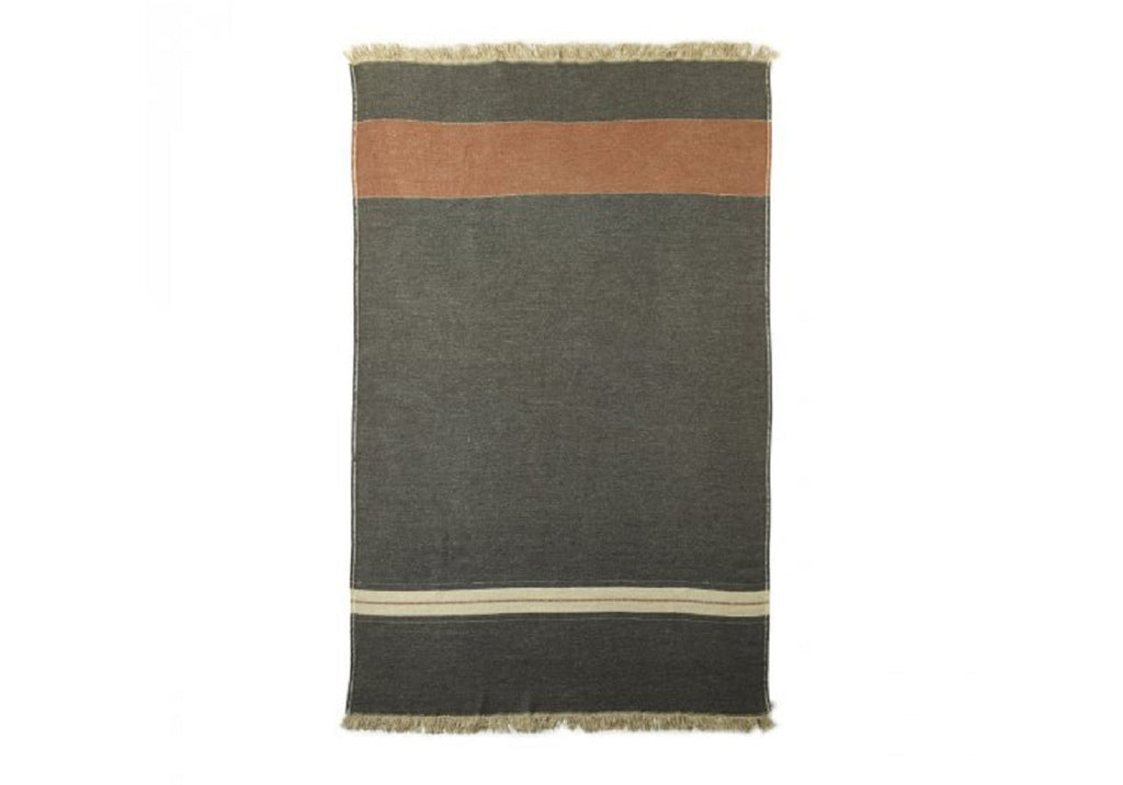 LUC STRIPED LINEN THROW