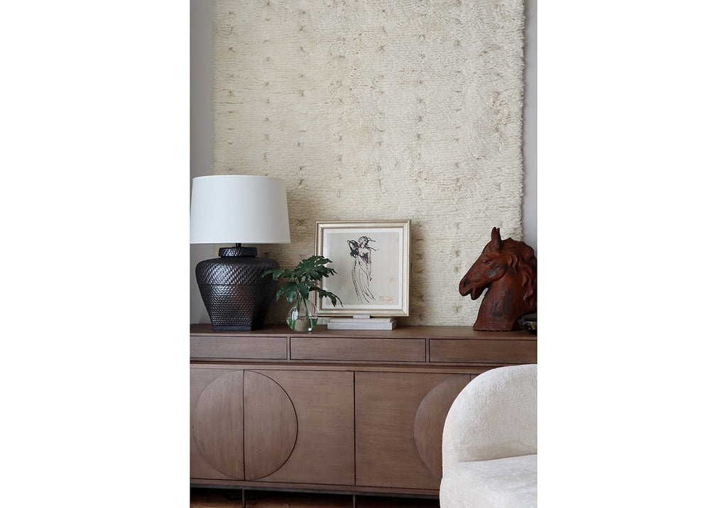 IVORY MOROCCAN WOOL RUG