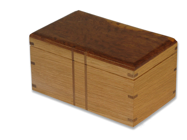 Bespoke Wooden Box w/ decorated interior.