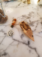 Handcrafted Wood Pendulum with Om Symbol Charm