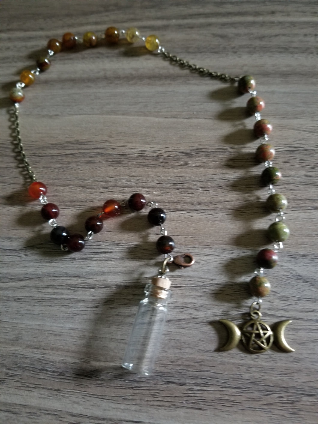 Handcrafted Witch Bottle Prayer Beads