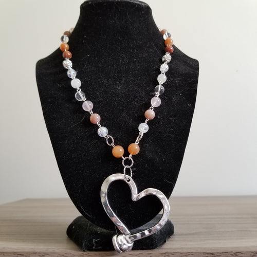 Handcrafted Silver Heart Necklace