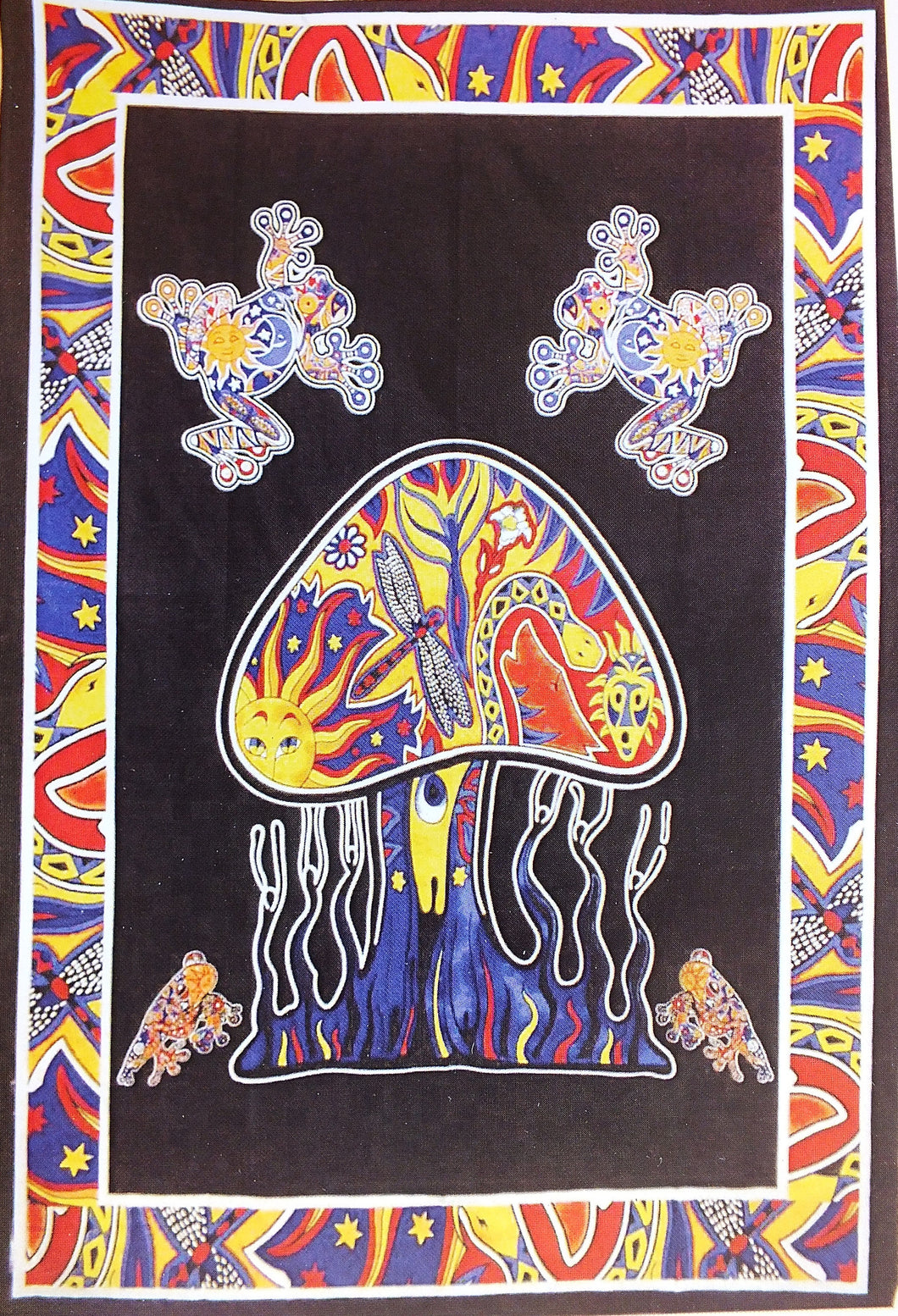 Mushroom and Frog Tapestry