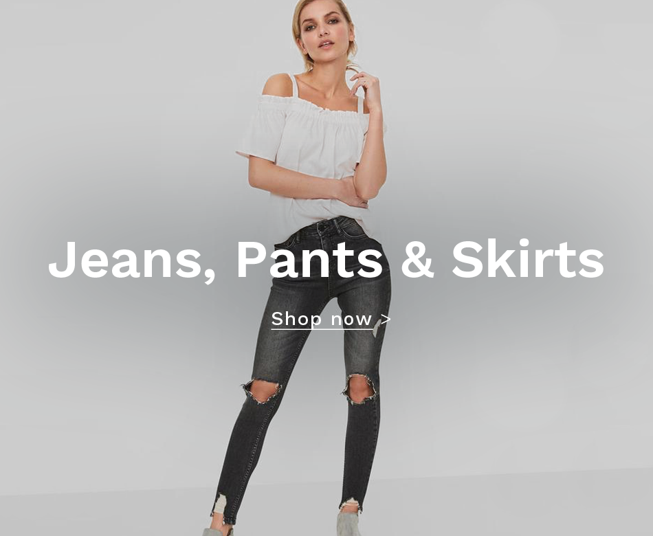 jeans, pants & skirts