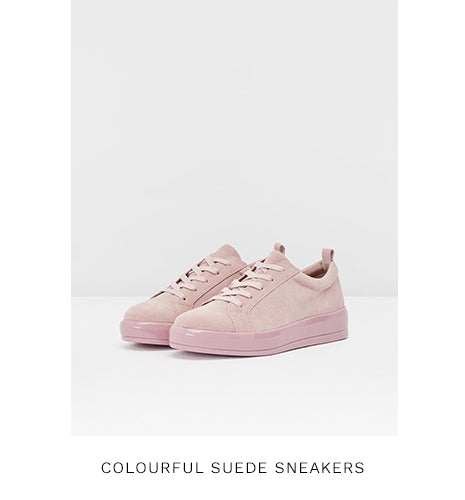 COLOURFUL SUEDE SNEAKERS - LIGHT PINK