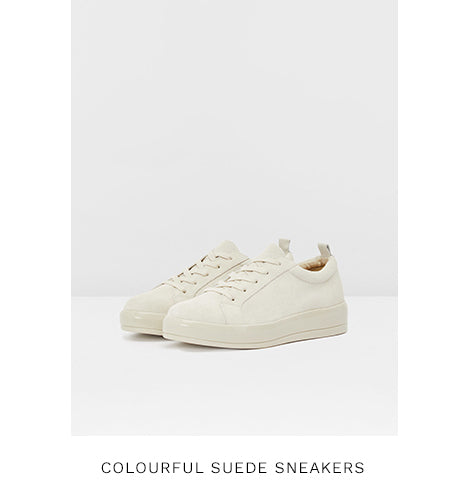 COLOURFUL SUEDE SNEAKERS - NATURAL