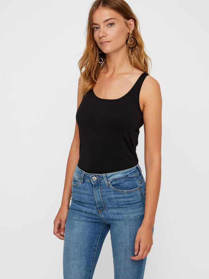 BASIC LONG TANK TOP Black