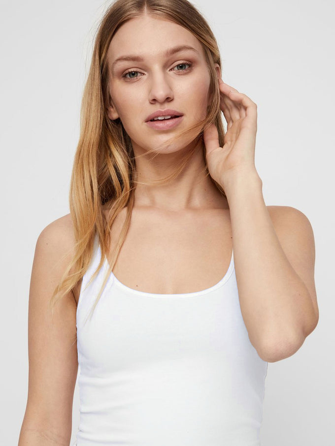 BASIC LONG TANK TOP Bright White