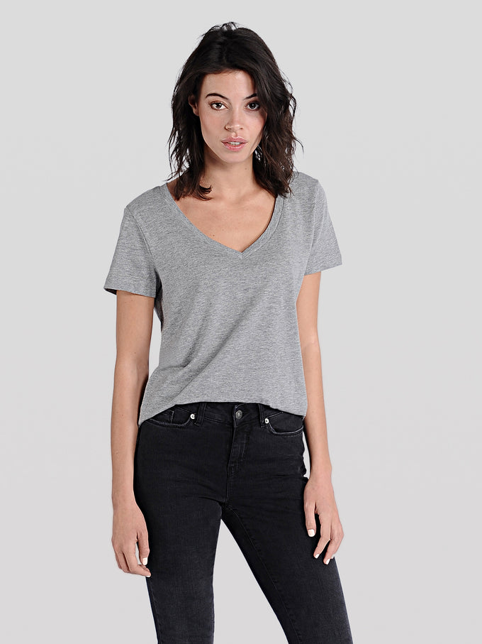 COLOURFUL BASIC T-SHIRT Light Grey Melange