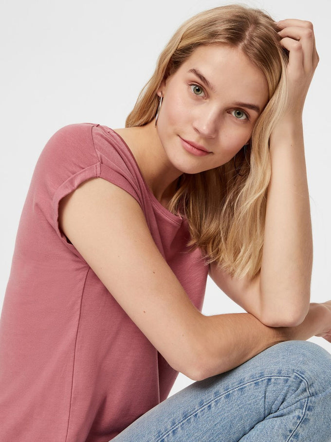 LIGHT LYOCELL T-SHIRT Mesa Rose