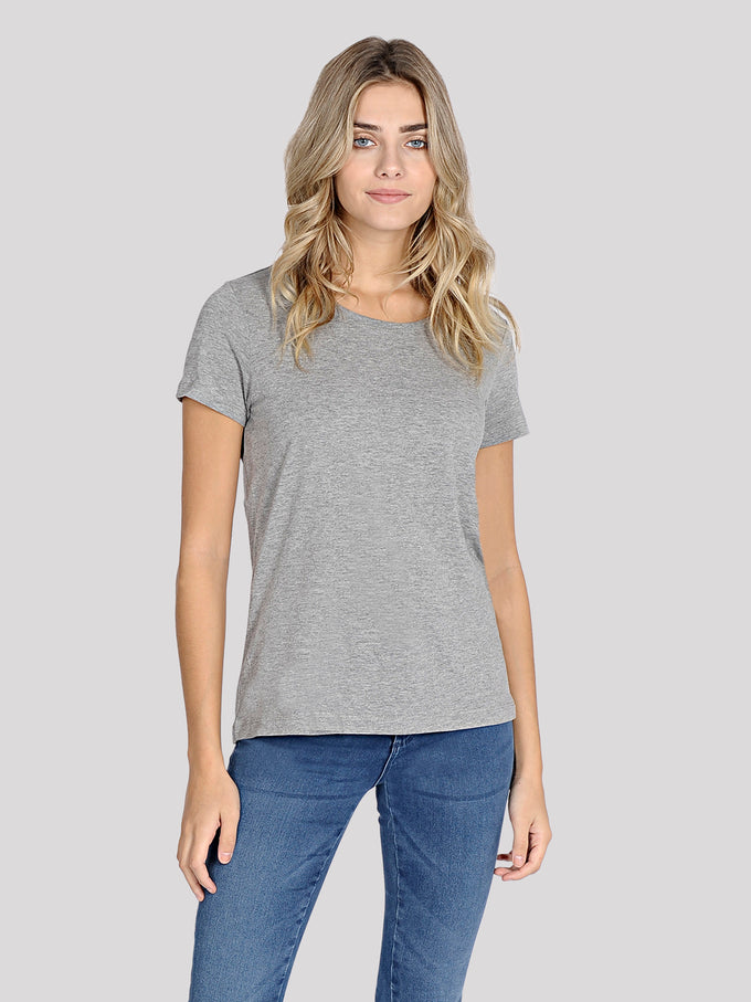 VMJOY COTTON T-SHIRT Light Grey Melange
