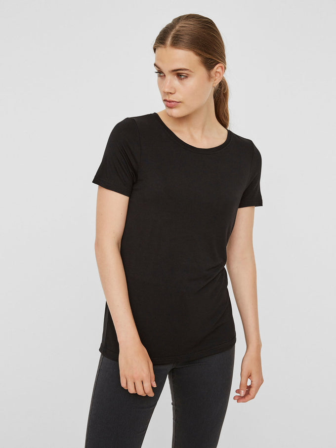 VMJOY COTTON T-SHIRT Black