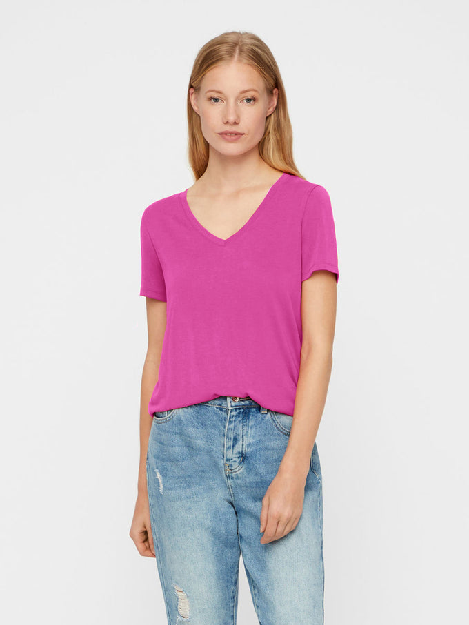 NEW VMJOY COTTON T-SHIRT Festival Fuchsia