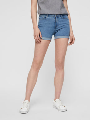 Hot Seven mid-waist denim shorts