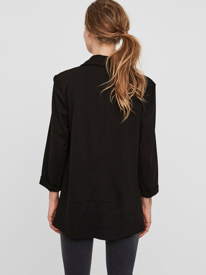 Katey 3/4 Sleeve Blazer Black