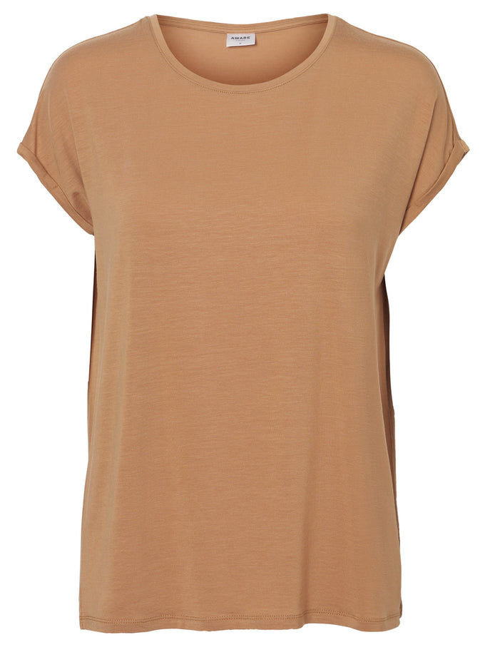 LYOCELL T-SHIRT Indian Tan