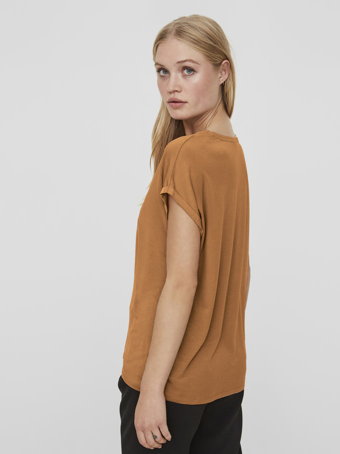 LYOCELL T-SHIRT Tobacco Brown