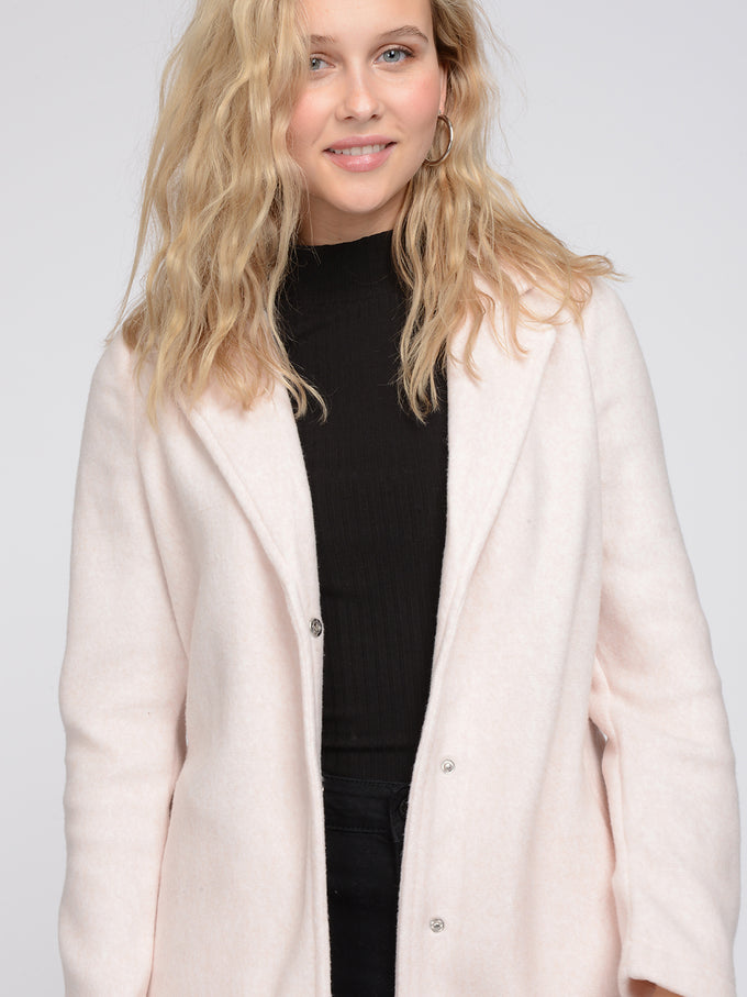 NINA BELTED BRUSHED COAT Misty Rose
