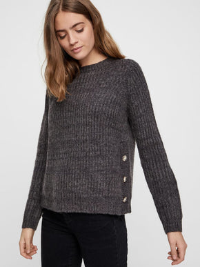 WOOL-BLEND SWEATER WITH BUTTON DETAILS