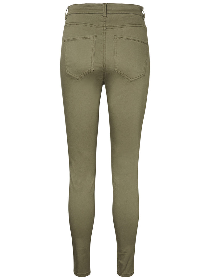 VMHOT HIGH WAIST SKINNY FIT PANTS Ivy Green