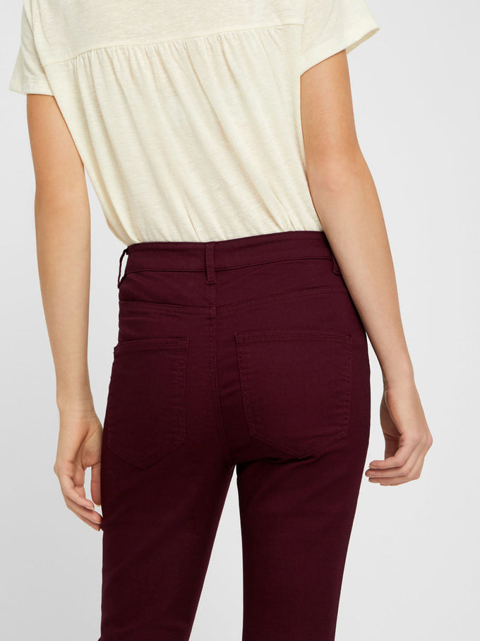 VMHOT HIGH WAIST SKINNY FIT PANTS Winetasting