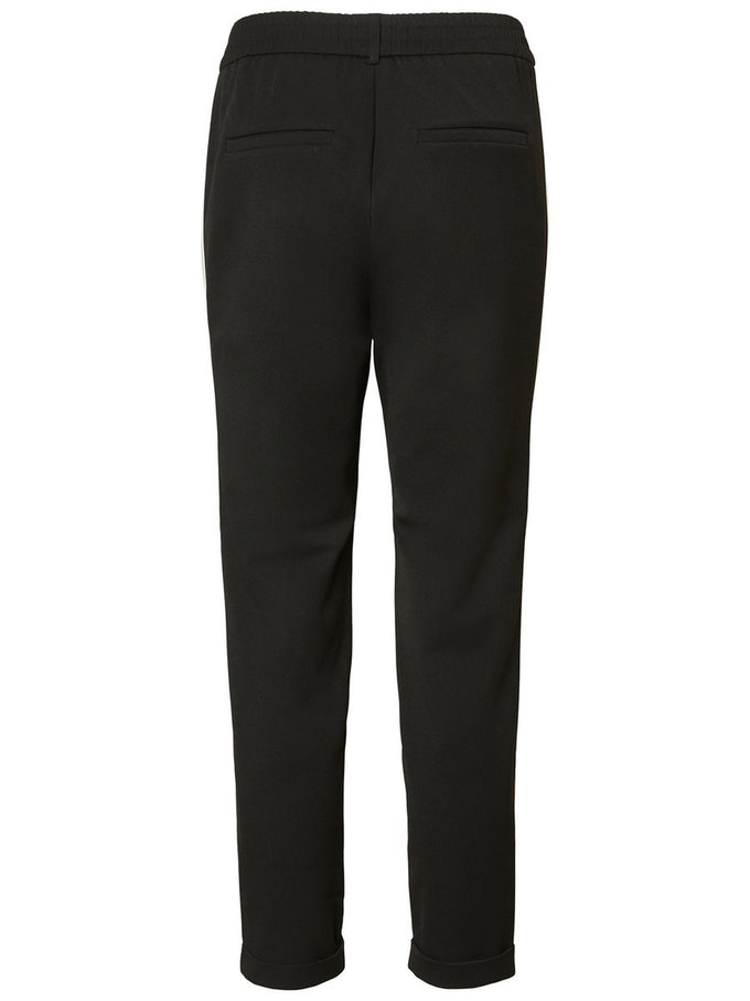 ANTI-FIT PANTS WITH WHITE BANDS Black