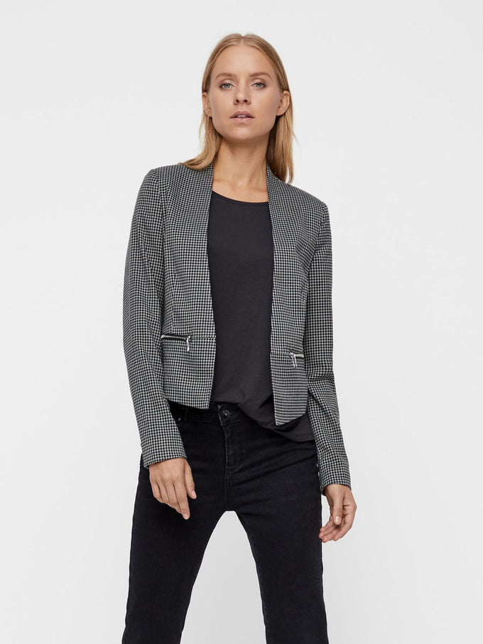 CLASSIC SHORT BLAZER Medium Grey Melange