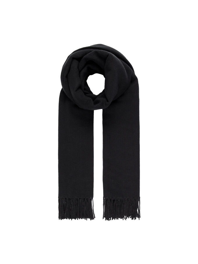 LARGE SOLID SCARF Black
