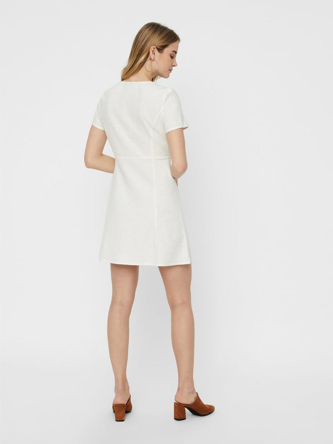 LINEN-BLEND DRESS Snow White