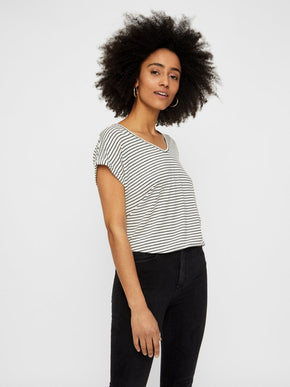STRIPED TENCEL T-SHIRT