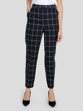 CHECKERED ANKLE PANTS