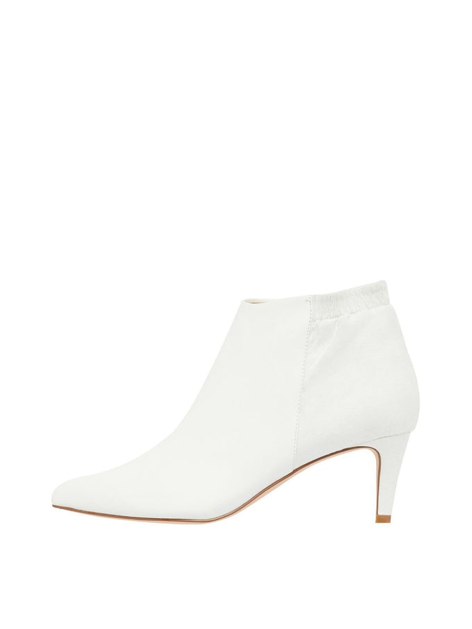 WHITE HEEL BOOTS Bright White