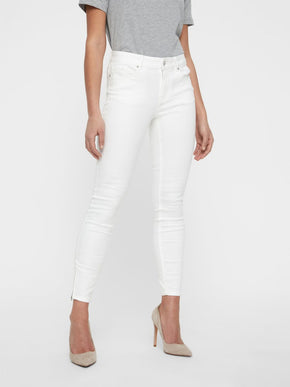 VMHOT SEVEN SLIM FIT WHITE ANKLE JEANS