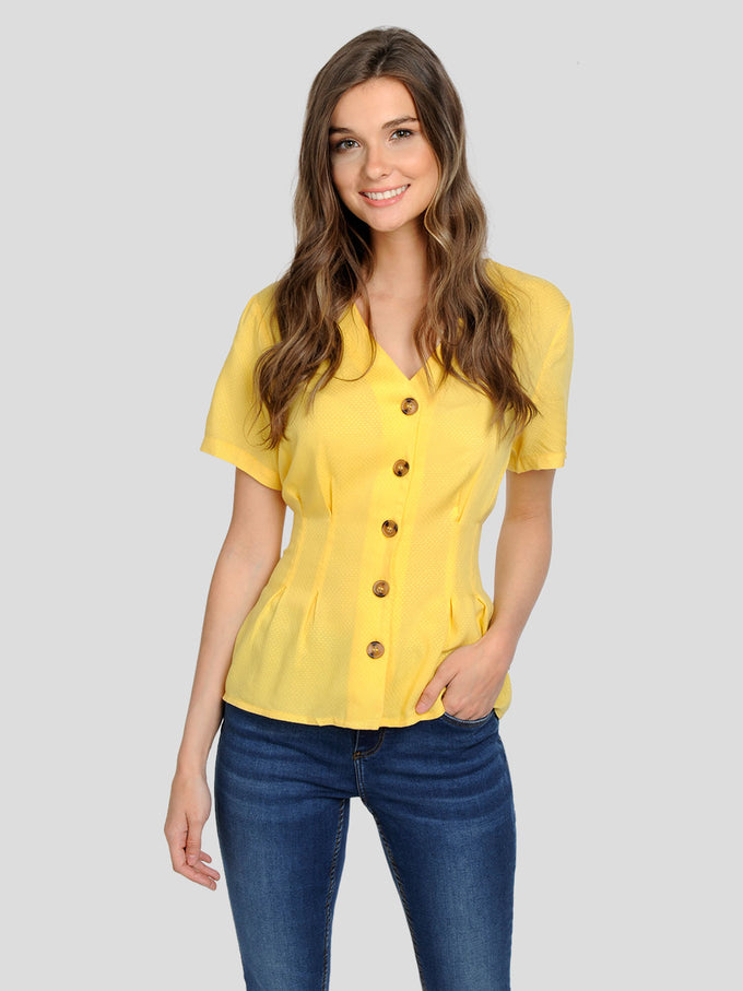 CUTE BUTTON-UP BLOUSE Yarrow