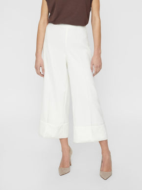 RECYCLED-POLYESTER WIDE LEG CULOTTES