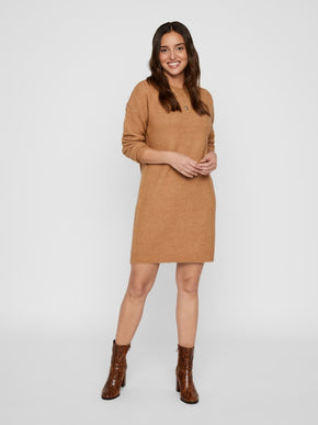 Sweater Dress With Back Zip