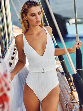 KNITTED ONE-PIECE SWIMSUIT