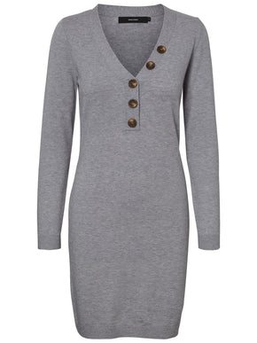 SOFT SWEATER-DRESS WITH BUTTON DETAILS