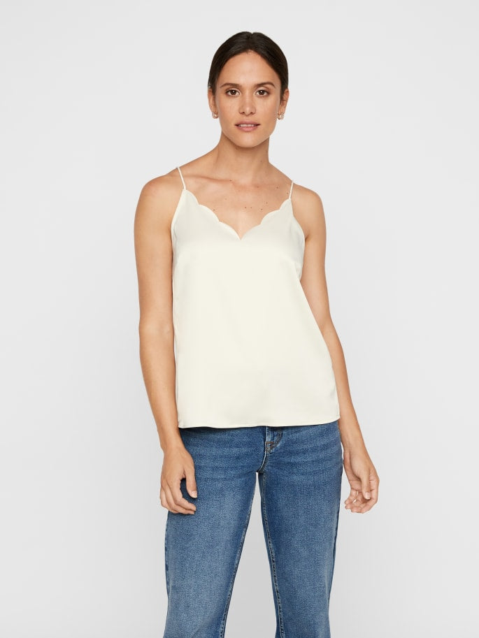 Aware Scallop Trim Satin Cami