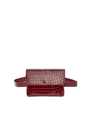 Embossed Croc Belt Bag