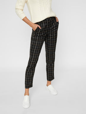 Ankle Plaid Pants
