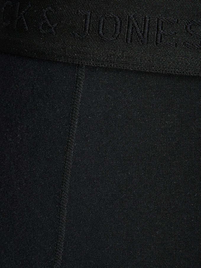BASIC BOXERS WITH CONTRAST STITCHING Black