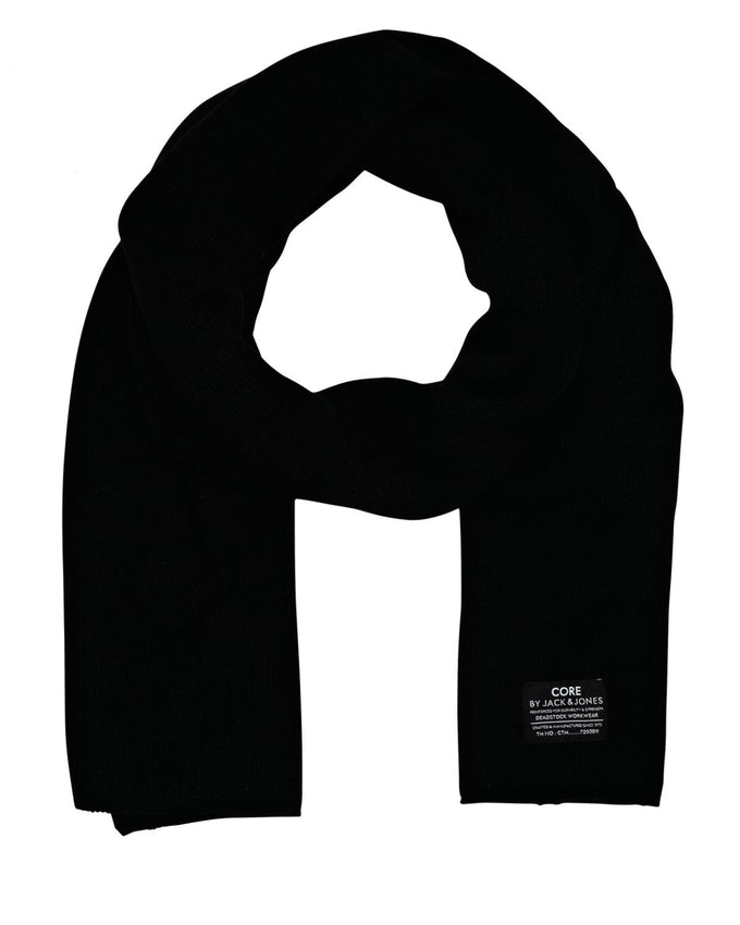 ACRYLIC KNITTED SCARF Black